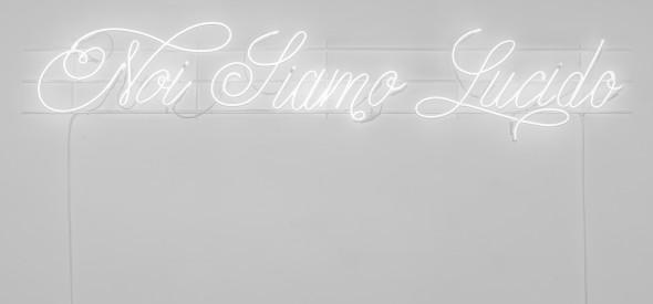Gregorio Samsa, Noi Siamo Lucido, 2015. Neon; cm 46 x 230. Ph Sebastiano Luciano, courtesy AlbumArte